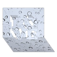 WATER DROPS 2 LOVE 3D Greeting Card (7x5)