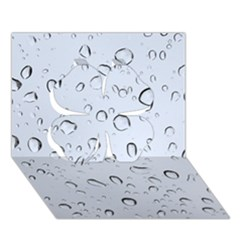 WATER DROPS 2 Clover 3D Greeting Card (7x5)
