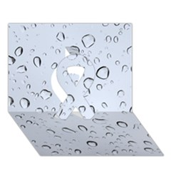 WATER DROPS 2 Ribbon 3D Greeting Card (7x5)