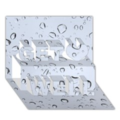 Water Drops 2 Get Well 3d Greeting Card (7x5)