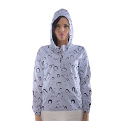 WATER DROPS 2 Hooded Wind Breaker (Women)