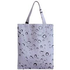 Water Drops 2 Zipper Classic Tote Bags