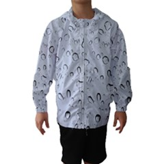 WATER DROPS 2 Hooded Wind Breaker (Kids)