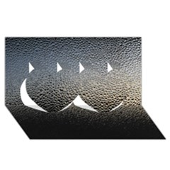 WATER DROPS 1 Twin Hearts 3D Greeting Card (8x4)