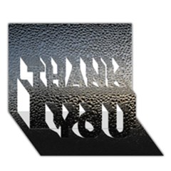 Water Drops 1 Thank You 3d Greeting Card (7x5)