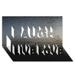 WATER DROPS 1 Laugh Live Love 3D Greeting Card (8x4)