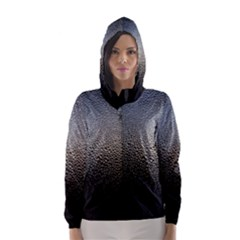 Water Drops 1 Hooded Wind Breaker (women)