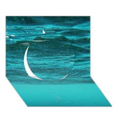 UNDERWATER WORLD Circle 3D Greeting Card (7x5)