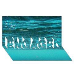 UNDERWATER WORLD ENGAGED 3D Greeting Card (8x4)