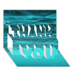 UNDERWATER WORLD THANK YOU 3D Greeting Card (7x5)