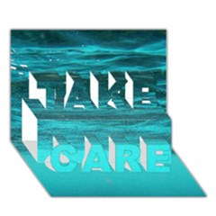UNDERWATER WORLD TAKE CARE 3D Greeting Card (7x5)