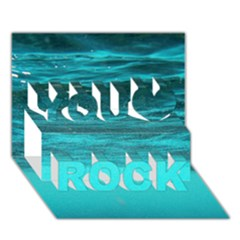 Underwater World You Rock 3d Greeting Card (7x5)