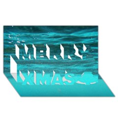 UNDERWATER WORLD Merry Xmas 3D Greeting Card (8x4)