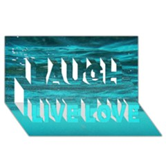 UNDERWATER WORLD Laugh Live Love 3D Greeting Card (8x4)
