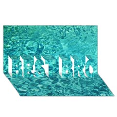 TURQUOISE WATER BEST BRO 3D Greeting Card (8x4)
