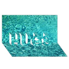 Turquoise Water Hugs 3d Greeting Card (8x4)