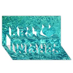 Turquoise Water Best Wish 3d Greeting Card (8x4)