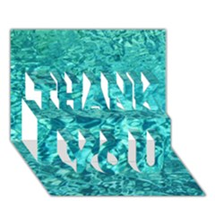Turquoise Water Thank You 3d Greeting Card (7x5)