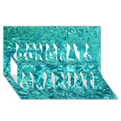 Turquoise Water Congrats Graduate 3d Greeting Card (8x4)