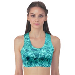 TURQUOISE WATER Sports Bra