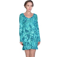 TURQUOISE WATER Long Sleeve Nightdresses