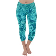 TURQUOISE WATER Capri Winter Leggings