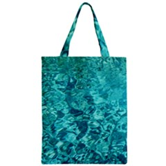 Turquoise Water Zipper Classic Tote Bags