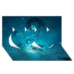 SUN-BUBBLES Twin Hearts 3D Greeting Card (8x4)