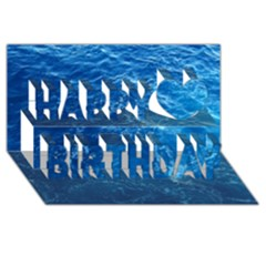 PACIFIC OCEAN Happy Birthday 3D Greeting Card (8x4)