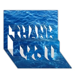 PACIFIC OCEAN THANK YOU 3D Greeting Card (7x5)