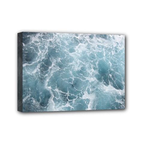 OCEAN WAVES Mini Canvas 7  x 5