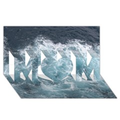 Ocean Waves Mom 3d Greeting Card (8x4)