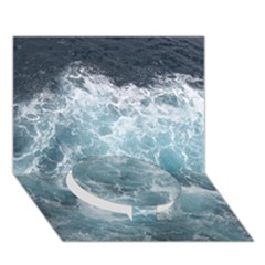 Ocean Waves Circle Bottom 3d Greeting Card (7x5)