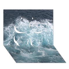 Ocean Waves Clover 3d Greeting Card (7x5)