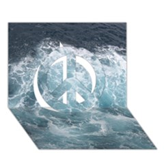 Ocean Waves Peace Sign 3d Greeting Card (7x5)