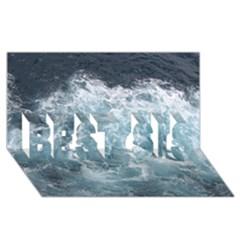 Ocean Waves Best Sis 3d Greeting Card (8x4)