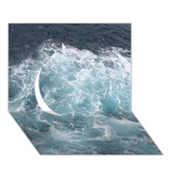 OCEAN WAVES Circle 3D Greeting Card (7x5)