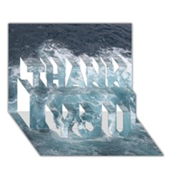OCEAN WAVES THANK YOU 3D Greeting Card (7x5)