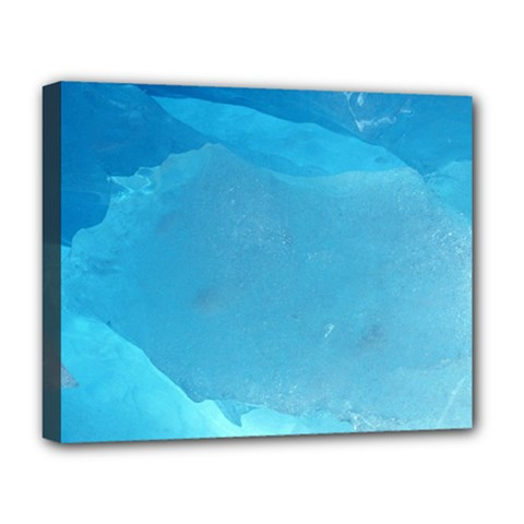 LIGHT TURQUOISE ICE Deluxe Canvas 20  x 16