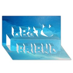 LIGHT TURQUOISE ICE Best Friends 3D Greeting Card (8x4)