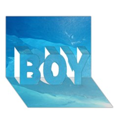 LIGHT TURQUOISE ICE BOY 3D Greeting Card (7x5)