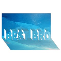 Light Turquoise Ice Best Bro 3d Greeting Card (8x4)
