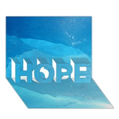 LIGHT TURQUOISE ICE HOPE 3D Greeting Card (7x5)
