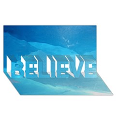LIGHT TURQUOISE ICE BELIEVE 3D Greeting Card (8x4)
