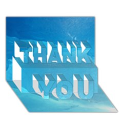 LIGHT TURQUOISE ICE THANK YOU 3D Greeting Card (7x5)
