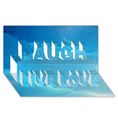 LIGHT TURQUOISE ICE Laugh Live Love 3D Greeting Card (8x4)