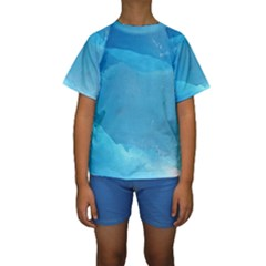 LIGHT TURQUOISE ICE Kid s Short Sleeve Swimwear