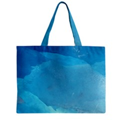 LIGHT TURQUOISE ICE Zipper Tiny Tote Bags
