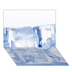 ICE CUBES I Love You 3D Greeting Card (7x5)