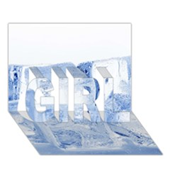 Ice Cubes Girl 3d Greeting Card (7x5)